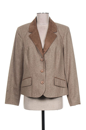 pauporté vestes femme de couleur marron