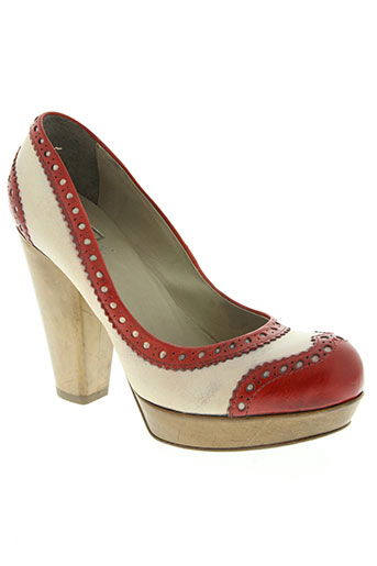 moma chaussures femme de couleur rouge