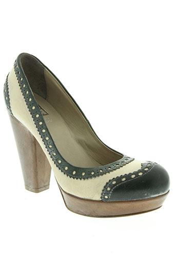 moma chaussures femme de couleur vert