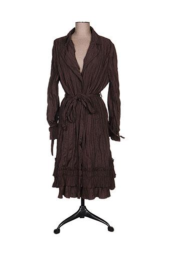 ecru manteaux femme de couleur marron