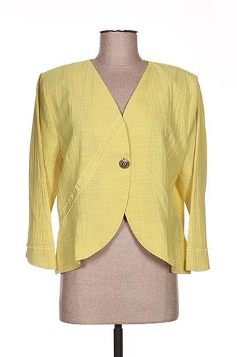 Veste chic / Blazer jaune JEAN GABRIEL pour femme