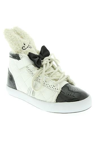 milk on the rocks chaussures fille de couleur blanc