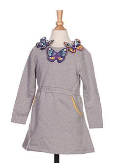 Robe mi-longue gris MILK ON THE ROCKS pour fille