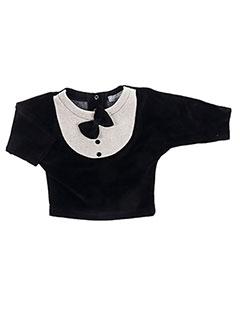 Sweat-shirt noir MILK ON THE ROCKS pour fille