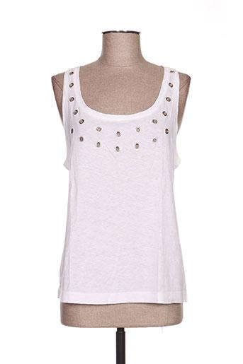 pablo delia t-shirts femme de couleur blanc