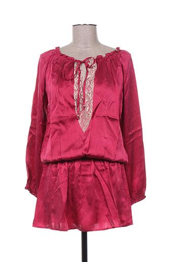 mine de rien robes femme de couleur rouge