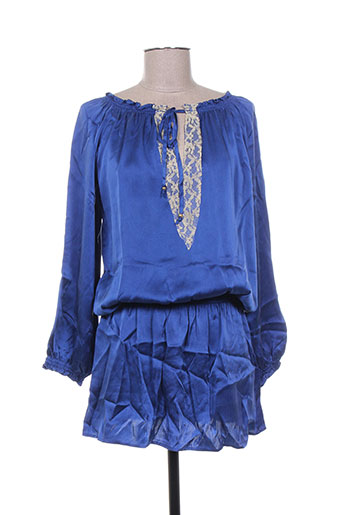 mine de rien robes femme de couleur bleu