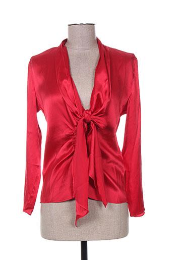 mine de rien chemises femme de couleur rouge