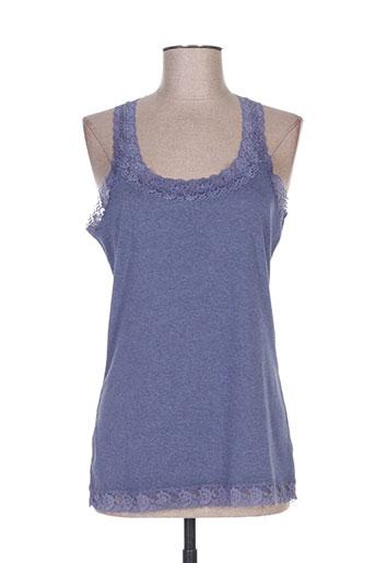 ddp t-shirts femme de couleur bleu