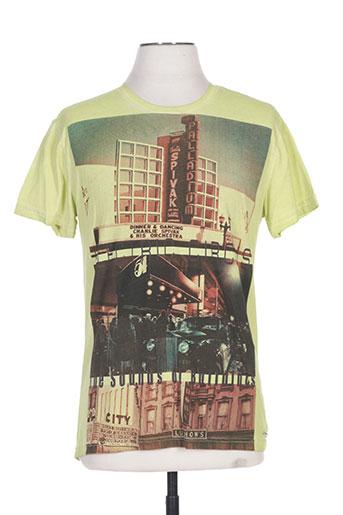 seaport t-shirts homme de couleur vert