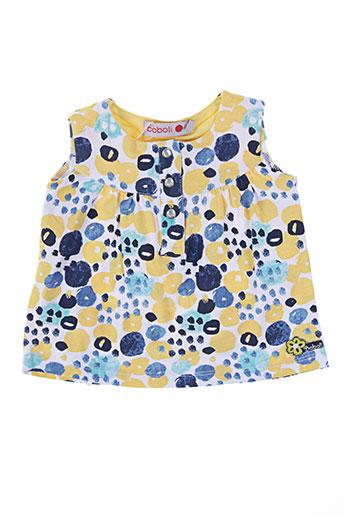 boboli chemises fille de couleur jaune