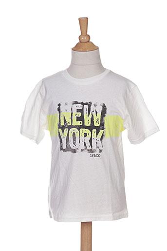3 pommes t-shirts enfant de couleur blanc