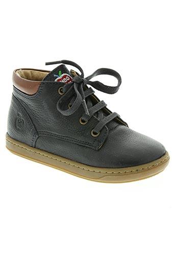 shoo pom chaussures garçon de couleur bleu