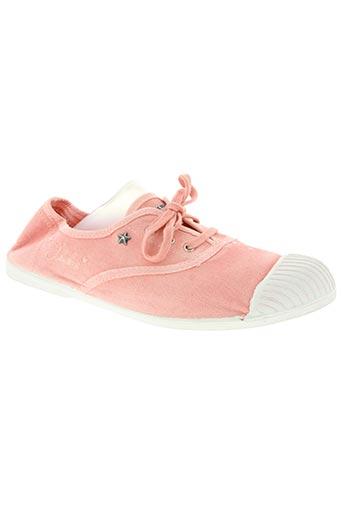 ikks chaussures femme de couleur rose