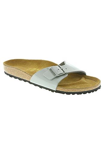 birkenstock chaussures femme de couleur gris