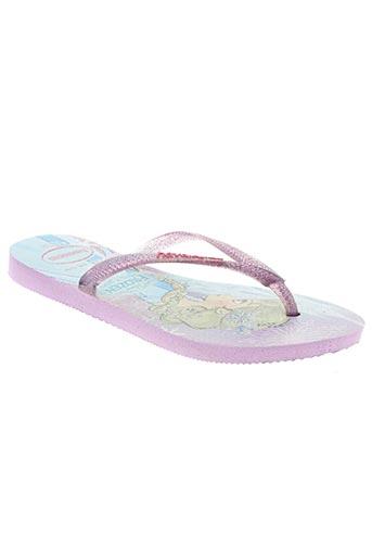 havaianas chaussures fille de couleur violet