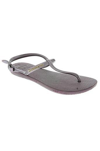havaianas chaussures femme de couleur violet
