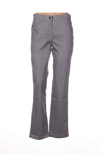 Jeans coupe droite gris LEBEK pour femme