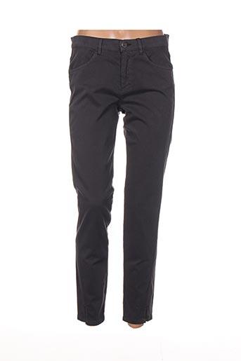 Pantalon 7/8 gris DIANA GALLESI pour femme