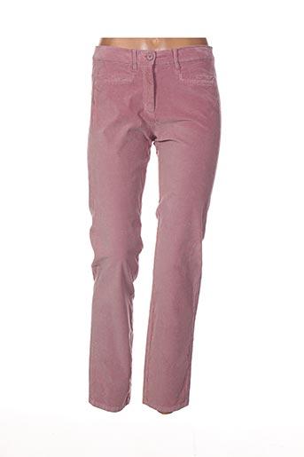 Pantalon 7/8 rose DIANA GALLESI pour femme