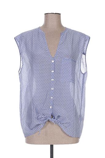 deha chemises femme de couleur bleu