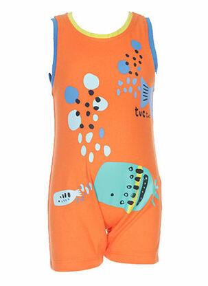 Barboteuse orange TUC TUC pour enfant