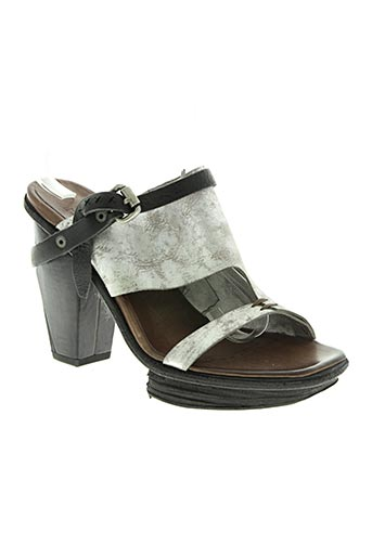Sandales/Nu pieds gris A.S.98 pour femme