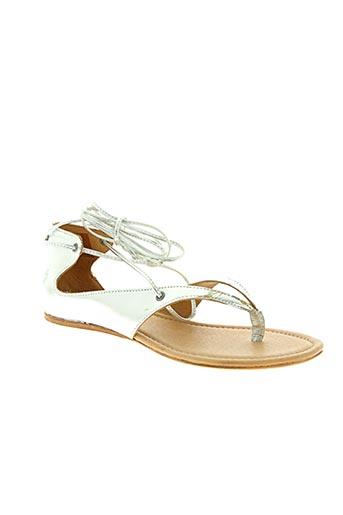 Sandales/Nu pieds gris APPLE OF EDEN pour femme