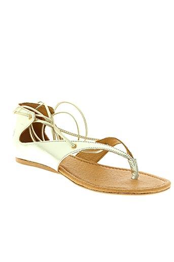 Sandales/Nu pieds jaune APPLE OF EDEN pour femme
