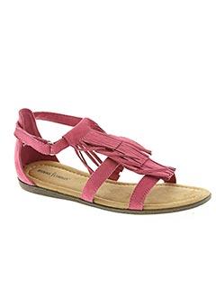 Sandales/Nu pieds rose MINNETONKA pour fille