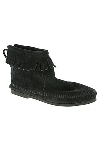 minnetonka chaussures femme de couleur noir