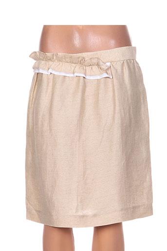 Jupe mi-longue beige TARA JARMON pour femme
