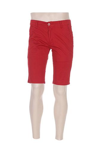 leeyo jeans shorts / bermudas homme de couleur rouge