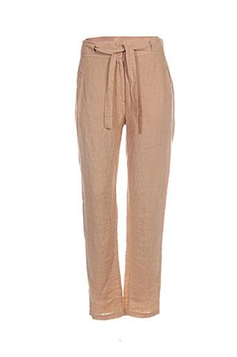 kokomarina pantalons femme de couleur jaune