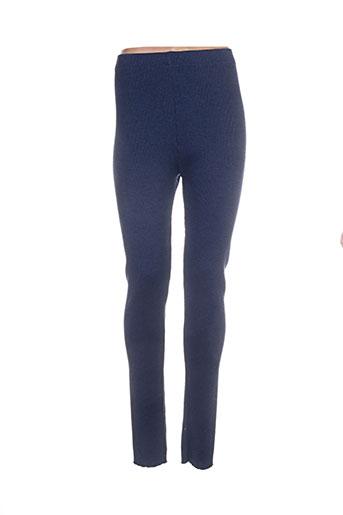 chassagnard pantalons femme de couleur bleu