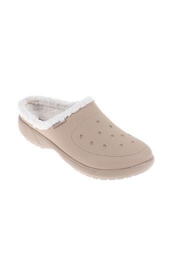 crocs chaussures homme de couleur beige