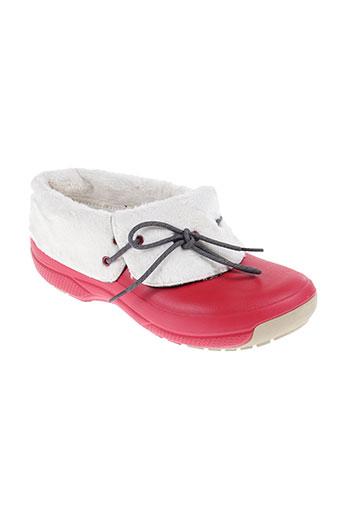 crocs chaussures homme de couleur rouge