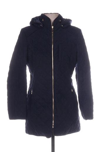 assuili manteaux femme de couleur bleu