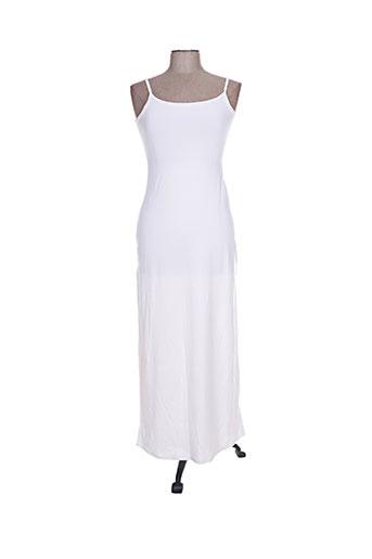 Robe longue blanc BLA-BLA pour femme