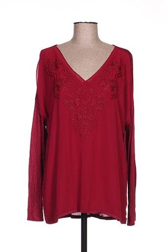 expresso chemises femme de couleur rouge