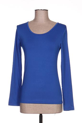 angelie t-shirts femme de couleur bleu