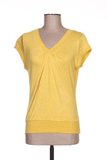zoteno t-shirts femme de couleur jaune