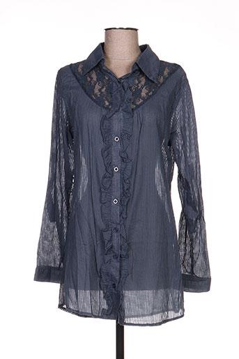 angelie chemises femme de couleur gris
