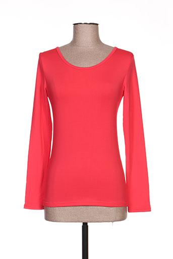 angelie t-shirts femme de couleur rouge