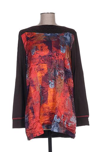 julie guerlande chemises femme de couleur orange