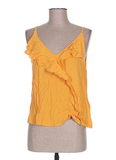 Top orange CACHE CACHE pour femme