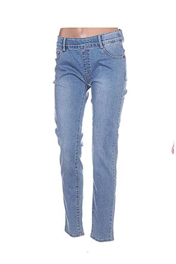 miss fanny jeans femme de couleur bleu