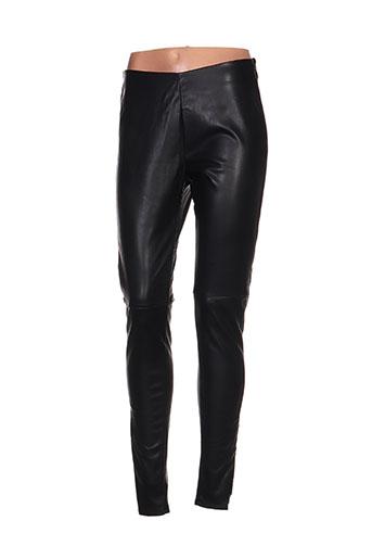 expresso pantalons femme de couleur noir