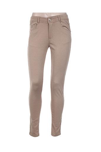 bs jeans pantalons femme de couleur beige