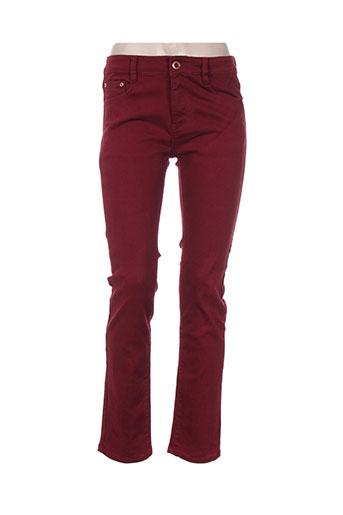 miss fanny jeans femme de couleur rouge